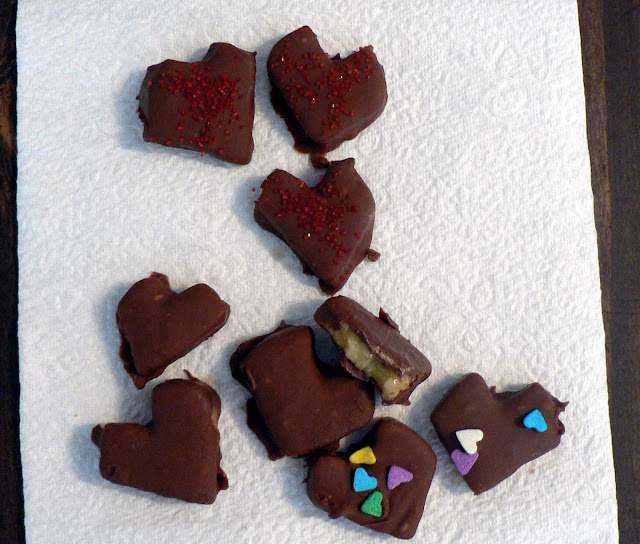 Chocolate Covered Banana hearts recipe