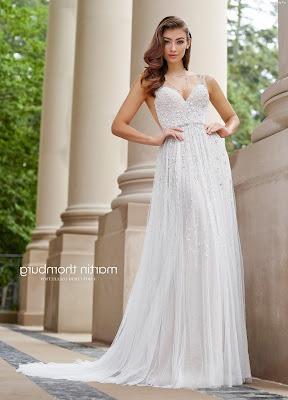 vestidos de novia civil largos