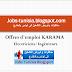 Offres d'emploi KARAMA : ingénieurs électriciens et électroniciens