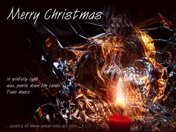 Christmas card with poem - for free download
