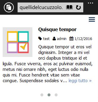 demo blog widget carousel slider