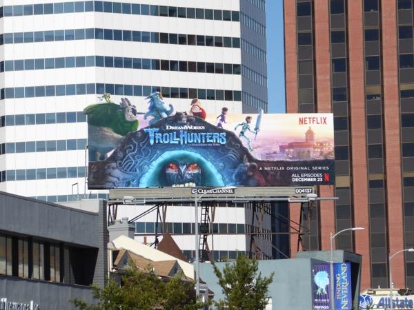 Trollhunters special extension billboard