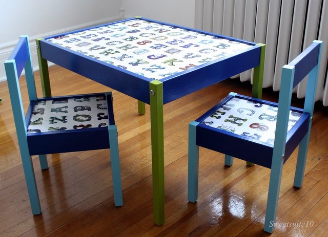 Ikea Latt table and chairs hack