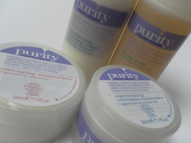 A picture of Purity Skincare Products