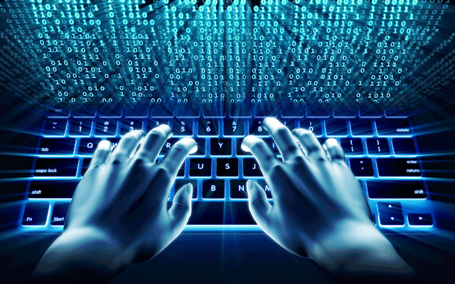 Absurd Hacker stock image