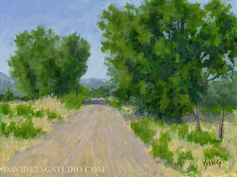 art painting landscape road rural acrylic tree