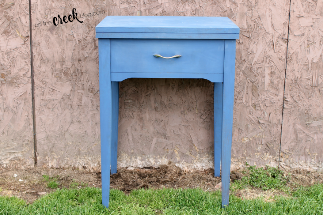 chalk painted sewing tables