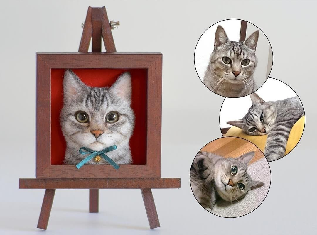 11-Wakuneco-Wool-Needle-Felt-Cat-Portraits-and-Video-Demonstration-www-designstack-co