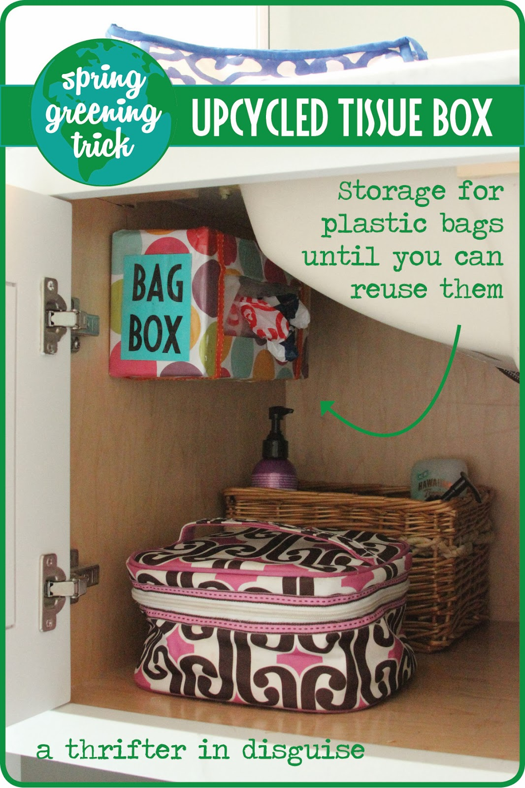 A Thrifter In Disguise Plastic Bag Storage From Upcycled