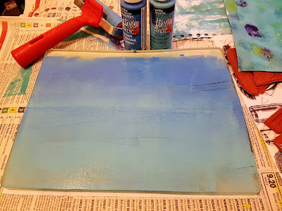 Gelli Plate with paint on