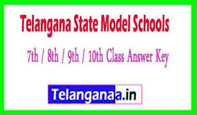TS Model School 7th / 8th / 9th / 10th Class Answer Key
