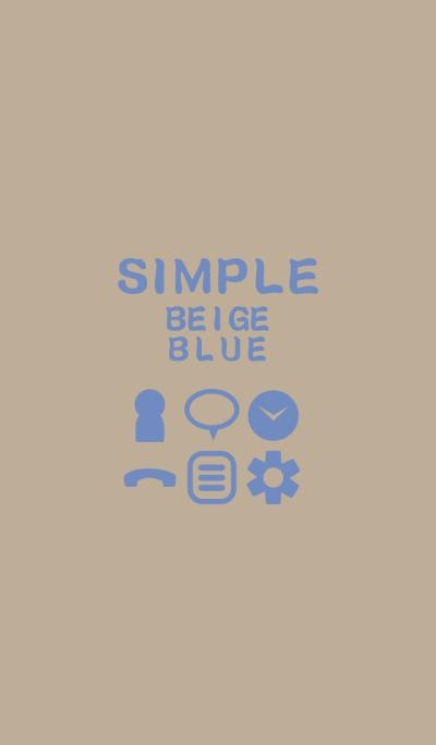 SIMPLE beige*blue*
