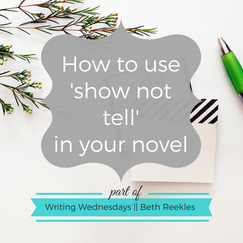 You've probably heard of the whole 'show not tell' thing from English class, but how can you use it in your novel?
