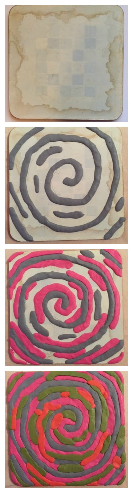 How to make a Sugru spiral upcycled coaster