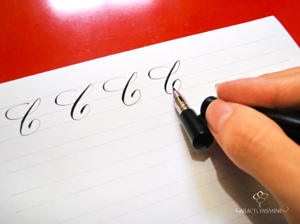 caligrafia copperplate como escribir letra c alfabeto