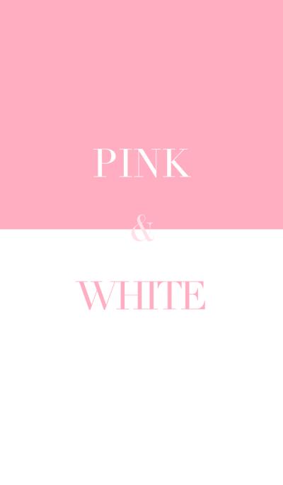 pastel pink & white .