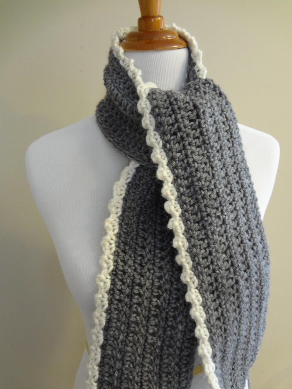 Fiber Flux Free Crochet Patterningrid Scarf