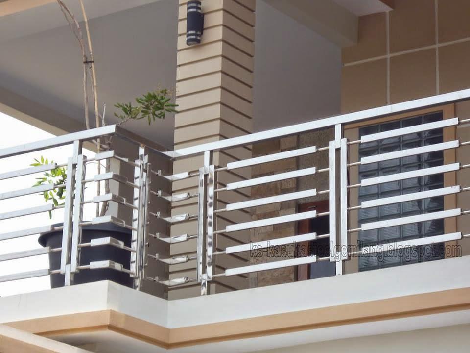 Reling Balkon Minimalis Stainless Steel Bengkel Las