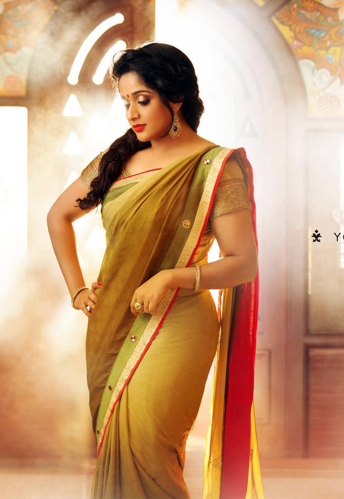 Actress Kavya Madhavan In Saree Untitled Gallery