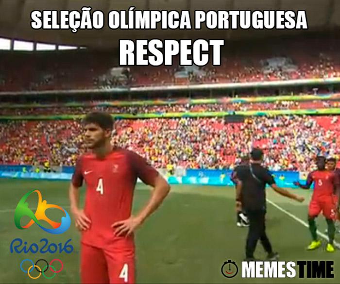 Memes Time Portugal 0 Alemanha 4 Torneio de Futebol Rio 2016 – Seleção olímpica portuguesa Respect