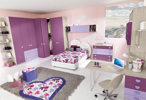 Phòng ngủ màu tím 02