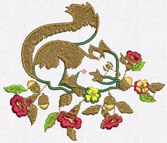 Download Free Squirrel Design Embroidery Machine