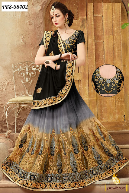 Latest Black Color Georgette Party Wear Sarees Online Shopping For Modern Women In India