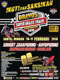 Bravos Super Grasstrack 2018, Magelang 10-11 Februari 2018