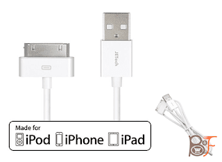 JETech APPLE CERTIFIED USB Sync And Charging Cable