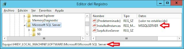 SQLServer: Cómo saber el nombre de la instancia