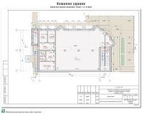 Проект нежилого здания в г. Кинешма Ивановской области. 2-й этап строительства. Архитектурные решения - План 1-го этажа