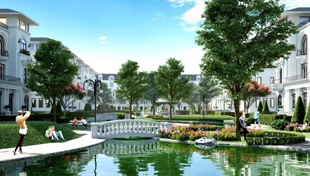 Cảnh đẹp của dự án biệt thự, liền kề Louis City.