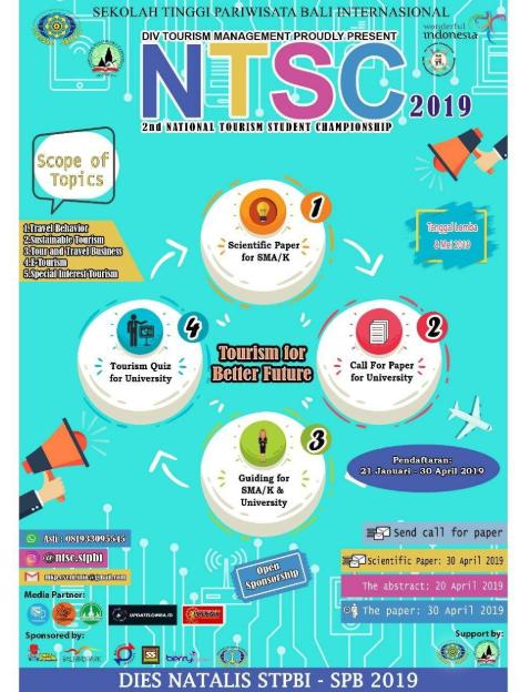 National Tourism Student Championship 2019 di STPBI