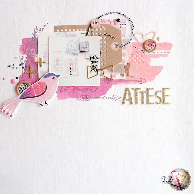 "scrapbook layout | ""attese"" per Scrappiamo Insieme by kushi www.kkushi.com"