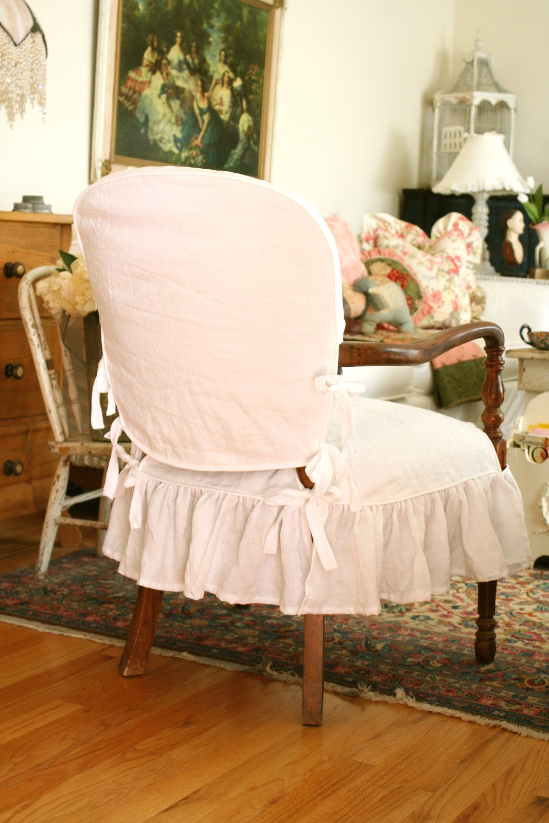 Wood Arm Chair Slipcover Slipcovers By Shelley