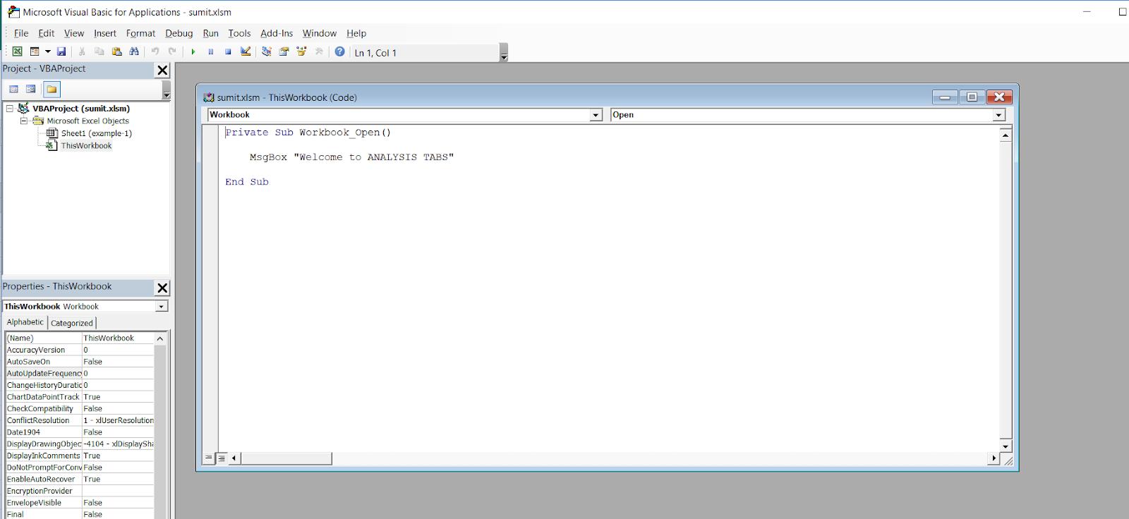 How to auto-open the VBA Editor when Excel starts | SKPTRICKS