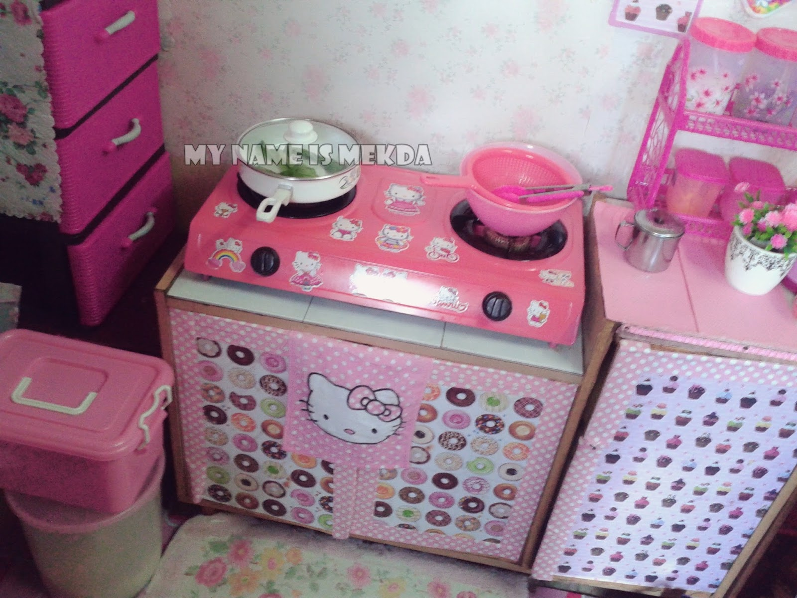 My Name Is Mekda 169 Deko Dapur Bajet Tema Pink
