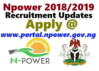 Npower 2018/2019 Recruitment Updates | Apply @ www.portal.npower.gov.ng