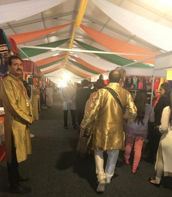 Diginitaries walking through Festival of India
