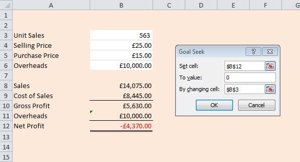 Not Just Numbers: Excel Tip: Using Goal Seek