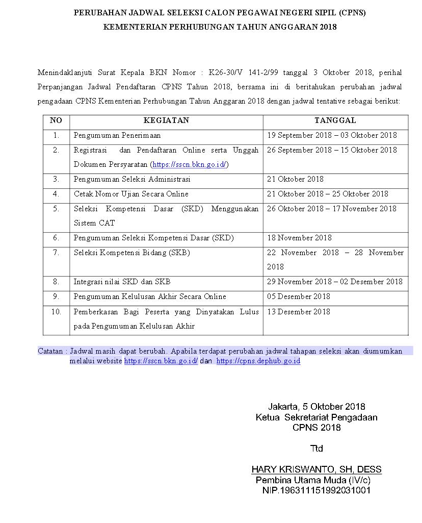 Catat Perubahan Jadwal Terbaru di CPNS Kementerian Perhubungan