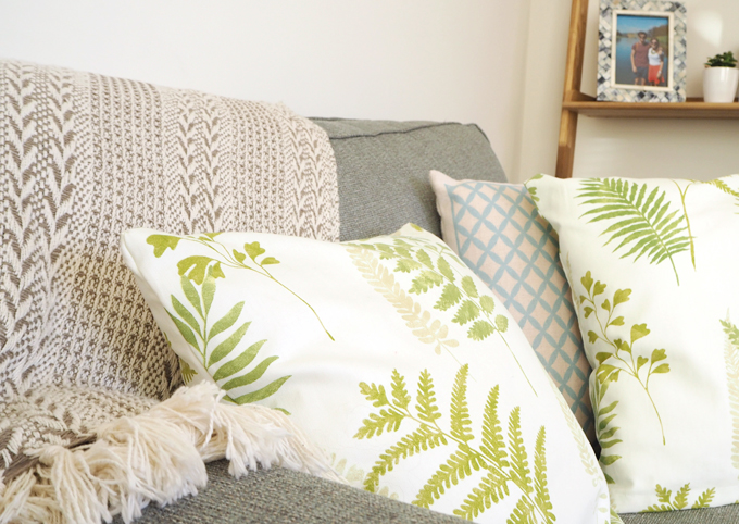 DIY Interiors How to make a botanical cushion lifestyle shot 1