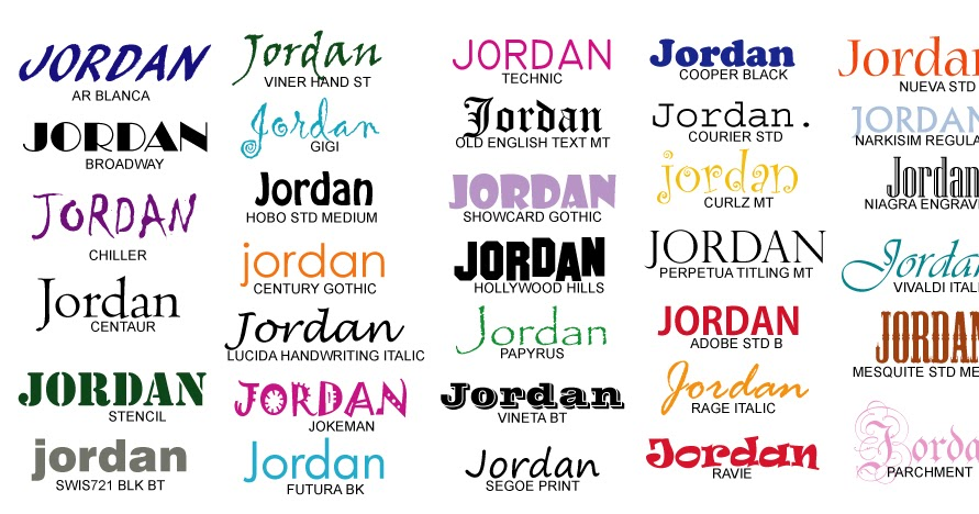 Custom Name Text Wall Decals