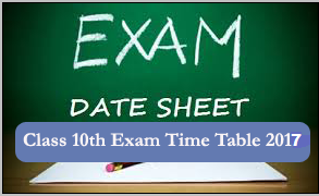 10th Class Time Table