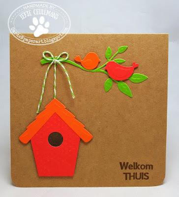 Handmade greeting card New Home