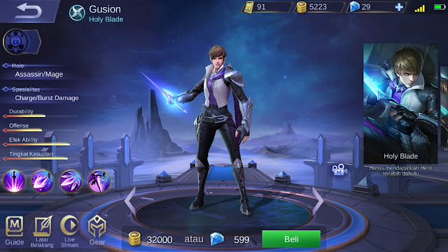 Assasin Terkuat di Mobile Legends Season 11 Gusion