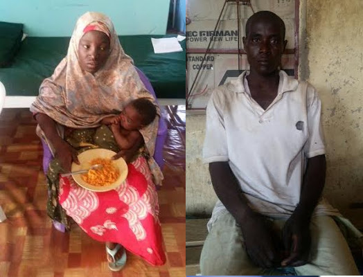 the found chibok girl Pictured with her child and Boko Haram husband