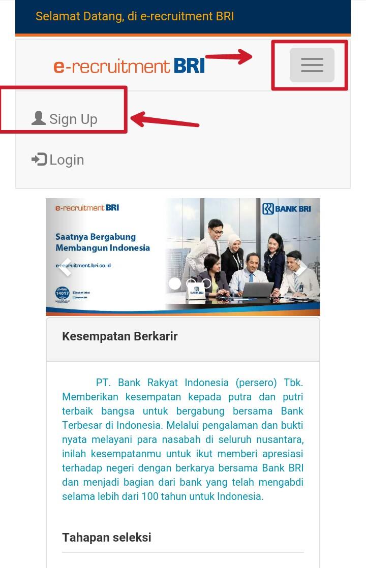 Lowongan Kerja Online Bank Bri