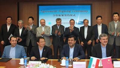 china crédito a Iran conjugando adjetivos