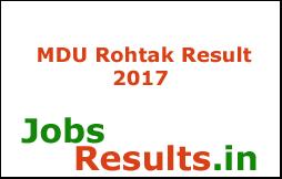 MDU Rohtak Result 2017